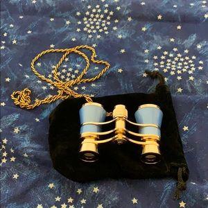 Blue & gold opera glasses